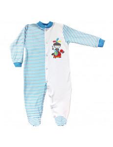 Комбинезон в голубую полоску для малышей