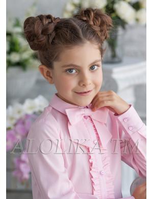 "Блузка розового цвета с бантом ""Фредерика"""